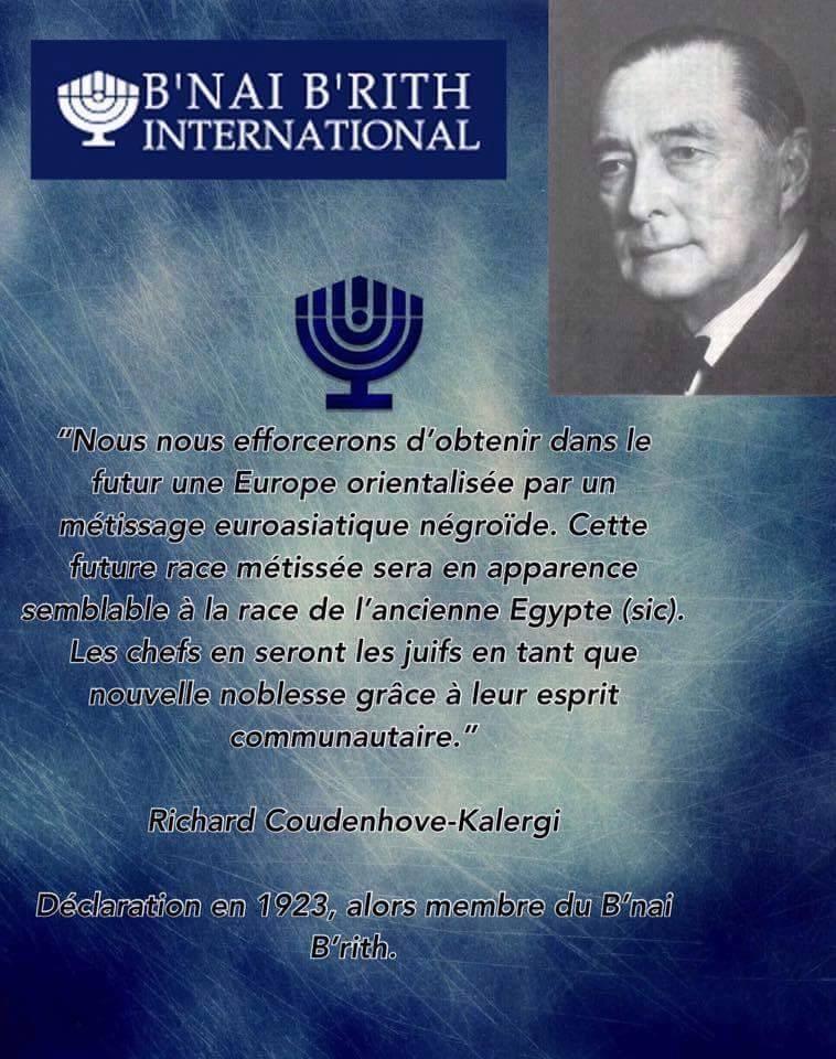 Nouvel Ordre Mondial:Le plan Coudenhove-Kalergi ou le génocide des peuples  d'Europe   msarroub